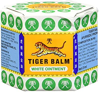 100% GENUINE WHITE TIGER BALM MUSCLE PAIN RELIEF, HEADACHES, JOINT PAIN TIGER BALM OINTMENT : everything five pounds (or less!)