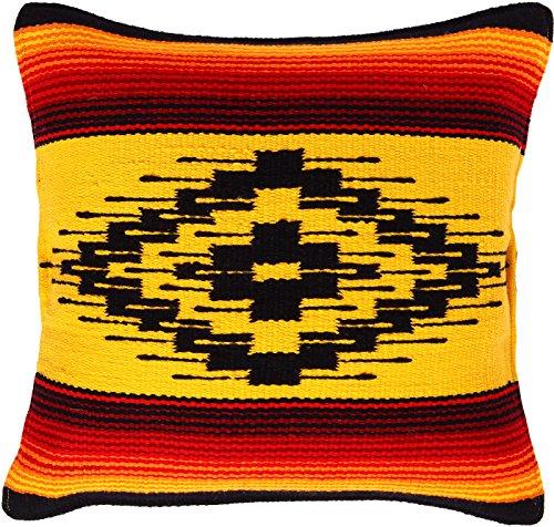 Threads West Fäden West Old Saltillo Überwurf Kissenbezug 18x 18, Southwest, Mexikanischen von Hand Gewebt, und Native American Styles. Handgefertigt Western Deko Kissen. 18x18 Saltillo 7 Native American Indian Cover