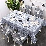 Home's Oxford Waterproof Tea Table Esstischdecke Simple Art Wipe Clean Tischdecke Terrassentischdecke120X160cm
