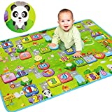 Getko Baby Crawling Waterproof Double Side Baby Play Crawl Floor Mat For Kids (120* 180)