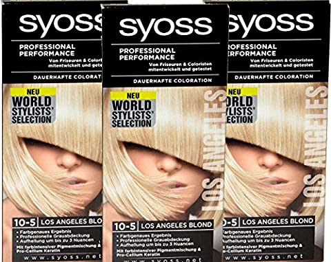 Syoss Coloration 10-5 Los Angeles Blond World Stylist Selection Stufe