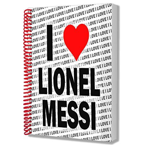 """Notizbuch mit Aufschrift""""I Love Lionel Messi"""", A5"""