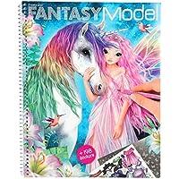 Depesche 10127 Malbuch Create Your Fantasy Model mit Stickern, bunt