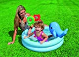 Intex 57400NP - 3-Ring Dolphin Baby Pool, Durchmesser 90 x 53 cm