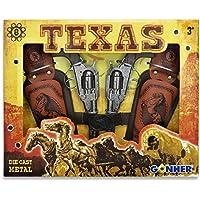 Partner Jouet Gonher - Playset Texas, Dos revolveres con 8 disparos (234/0)