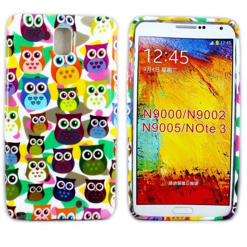 thematys Samsung Galaxy Note 3 N9000 Silikon Kleine Eule Case Schutz-Hülle Cover Schale handyhülle (Eule Handy Cover Für Note 3)