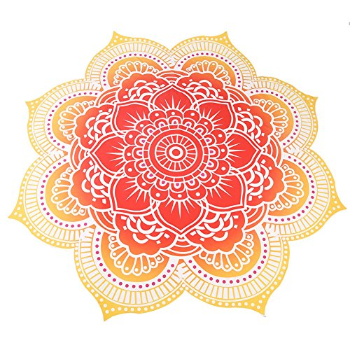 Round Mandala borla pared toalla de playa Yoga Alfombra Mantel pared colgantes, XingYu-XY Toalla de playa redonda, 145 * 145cm [Clase de eficiencia energética A+]