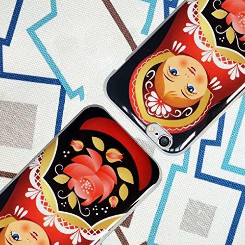 Case iPhone 6S Plus, MOMDAD TPU Hülle für iPhone 6S Plus / 6 Plus Tasche Landschaft Malerei Mustetr Pattern Schutzhülle Ultra Dünn Silikon Drucken Handyhülle Cover Schutz Kratzfeste Handy Tasche Schal Dolls_2