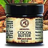 Cocoa Butter - Kakao butter Unraffiniert - Native Rein und Natürlich 100g Glas - Südafrika, Kakaobutter für Lippenpflege, Stretch Marks, Haare - Körperbutter von AROMATIKA