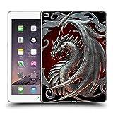Head Case Designs Offizielle Christos Karapanos Silber Talisman Drachen 2 Soft Gel Hülle für iPad Air 2 (2014)