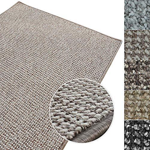 Passatoia corridoio al metro - tappeto lungo su misura, pelo corto, in 4 tonalità, effetto chiaro-scuro, antimacchia - 66x200 - grigio-beige