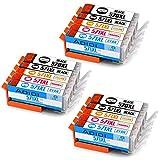 Aoioi Kompatibel Tintenpatronen Ersatz für Canon PGI-570XL CLI-571XL Druckerpatronen für Canon PIXMA MG5750 MG5751 MG5752 MG5753 MG6850 MG6851 MG6852 MG6853 TS5050 TS5051 TS5053 TS5055 TS6050 TS6051 TS6052 (3 Groß Schwarz, 3 Schwarz, 3 Cyan, 3 Magenta, 3 Gelb)