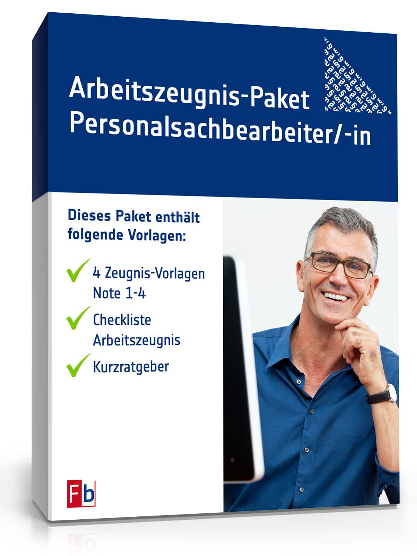 Arbeitszeugnis-Paket Personalsachbearbeiter Note Eins bis Vier [Zip Ordner] [Download]