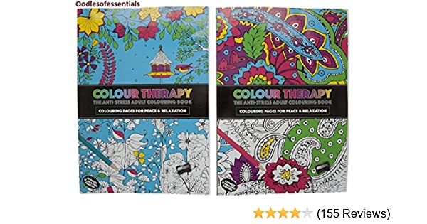 PMS 2AST 64PG A4 SIZE COL THERAPY COLOURING BOOK 36CDU Amazoncouk Kitchen Home