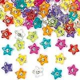 97076a9d6f9f Baker Ross Cuentas en Forma de Estrella con Diamante para Hacer Pulseras