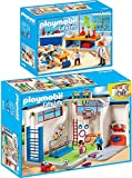 PLAYMOBIL City Life 2er Set 9454 9456 Turnhalle + Chemieunterricht