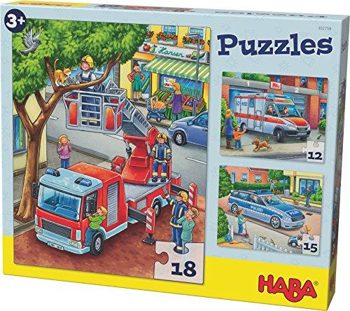 HABA 302759 Puzzle Polizei (Tier-puzzle 100-teilig)