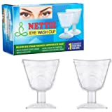 Nettie Eye Wash Cup With Free Eye Exercise Leaflet - Pack Of 2 (Transparent)