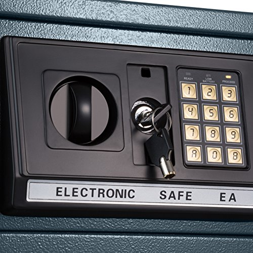 TecTake® Massiver Elektronischer Safe Tresor 20 X 31 X 22cm 4,6 kg schwarz - 4