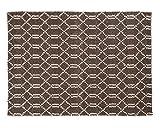 Sukhi Sharwan: dunkelgrau gewebter Teppich, schöne indische Teppiche, Wohnzimmer (250cm x 300cm / 8' 2.42'' x 9' 10.1'')