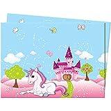 Procos 85674 Tovaglia Plastica Unicorno, 120x180 cm, Plastica, Multicolore