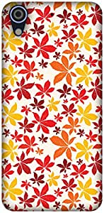 The Racoon Lean printed designer hard back mobile phone case cover for HTC Desire 626. (Autumn Fal)