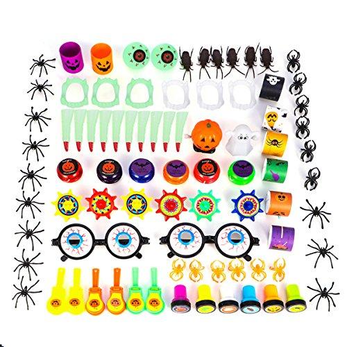 Foto de YeahiBaby Halloween Pequeño Juguete Surtido | Piñata de Relleno, Favores de la Fiesta para niños, Conjunto de 84