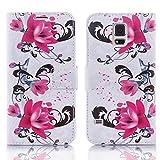 Numerva Samsung Galaxy S3 Mini Hülle, Schutzhülle [Design Handytasche Motiv] PU Leder Tasche für Samsung Galaxy S3 Mini Wallet Case [QJC-347 Weiss]