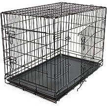 Jaula de transporte caja de transporte de perro de la perrera jaula plegable XL