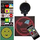 WHSLY Dispositivo inteligente de bricolaje Emoji, pantalla de coche Emoji controlada, sistema de luz de seguridad de control remoto inteligente para mantener seguros a los vehículos y a las personas