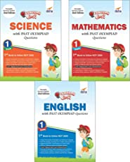 Olympiad Champs Science, Mathematics, English Class 1 with Past Questions (Set of 3 Books)