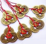 yeah67886riqueza y éxito chino Feng Shui monedas (bronce)