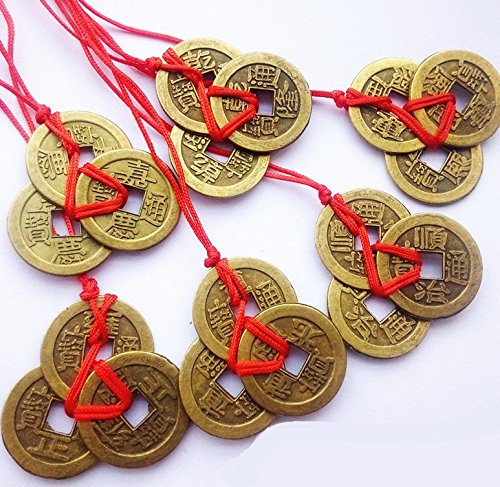 Philna12 antiguas monedas chinas de Feng Shui de la suerte, la riqueza