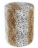 Sitzhocker Fell-Imitat Leopard Sitzhöhe 44 cm
