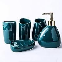 Ensemble d'accessoires de Salle de Bain en céramique de 5 pièces, Comprend Un Distributeur de Savon Liquide, Un Porte…