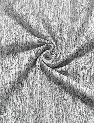 Agnes Orinda Femmes Grande Taille Dentelle Encolure V Manches 3/4 Ourlet Mouchoir Haut gray