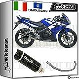 Arrow Auspuff Komplett Hom Thunder Aluminium Dark Carby Honda CBR 125-r 20101051501. AKN + 51002Ich