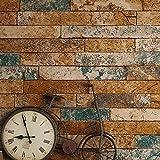 huangyahui simple 3d Brick schéma Papier peint anciens brique, brique Papier peint chinois nostalgique Restaurant Hôtel fond Wall, Retro Bar La Papier peint Blue brick