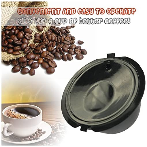 Decdeal 3Pcs Reusable Coffee Filters Capsule Cup for All Standard Coffee Machines