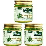 INDUS VALLEY Bio Organic Non-Toxic Aloe Vera Gel Set of 3 for Acne, Scars, Glowing & Radiant Skin Treatment (175x3=525ml)