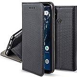 Moozy Case Flip Cover for Xiaomi Mi A2, Mi 6X, Black -