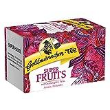 Goldmännchen Super Fruits Tee mit Granatapfel, Acai, Aronia und Holunder, Obsttee, Früchtetee, 20 Filterbeutel à 2.25 g