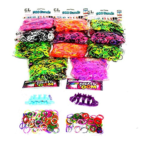 10100 XXL Loom Band Armband Gummibänder Starter Set Kit Bands Webrahmen Band