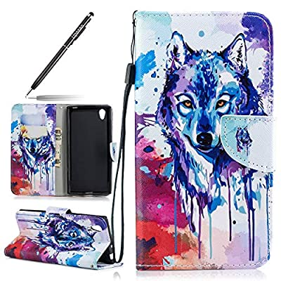 Leather Case for Sony Xperia L1, Flip Cover for Sony Xperia L1, Uposao