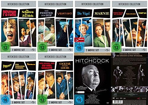Preisvergleich Produktbild Alfred HITCHCOCK COLLECTION - 27 grosse Klassiker im Paket * 32 STUNDEN FILMGENUSS * DVD Edition