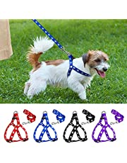 PSK PET MART Nylon Adjustable Dog Harness Printed -0.75 Inch