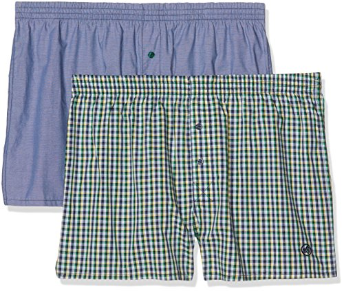 s.Oliver 17703977732, Boxer Uomo, Pack de 2 Multicolor (Blue Chambray 11B8)