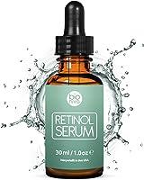 Retinol Serum Hochdosiert Testsieger - 2,5% Retinol Liefersystem mit 20% Vitamin C & Vegan Hyaluronsäure - Bestes...