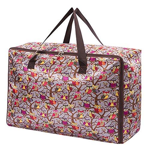 Storage Bag Stampa Tessuto Di Oxford Per Uso Domestico Borsa Quilt E Stoccaggio Cuscino Con Maniglie Grande Capacit ÀTre Taglie Disponibili Accessori Da Viaggio-gufo-S