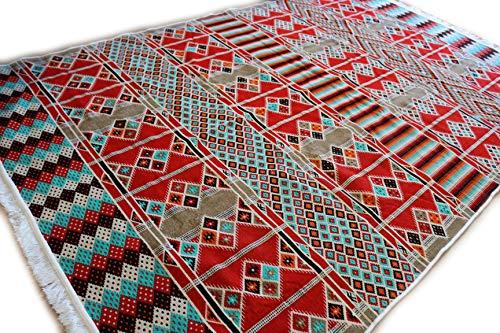 (200x300 cm Orientalischer Teppich, Kelim,Kilim,Carpet,Bodenmatte Damaskunst S 1-6-22)